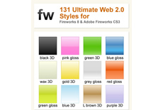 131 Web 2.0 Layer Styles for Fireworks