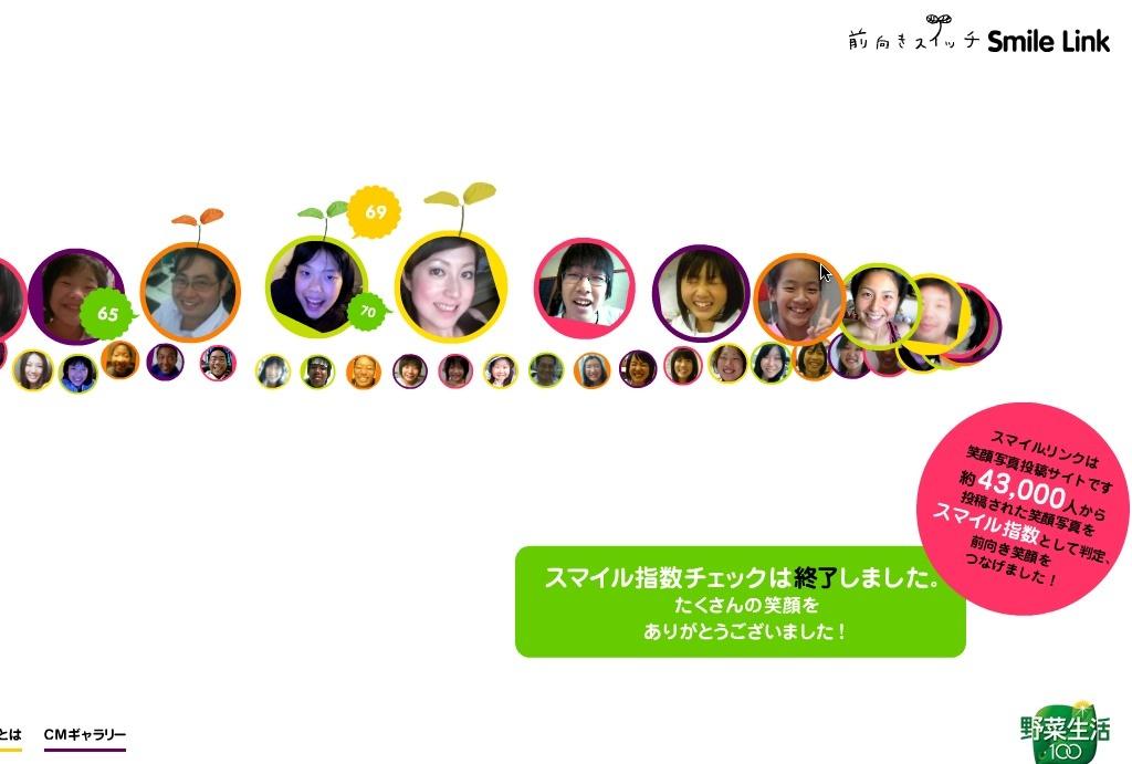 前向きスイッチ Smile Link | カゴメ 野菜生活100